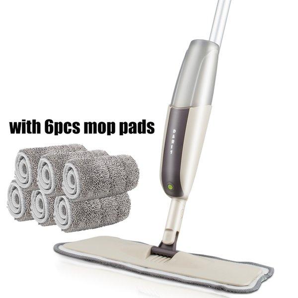 grey 1mop 6 rags