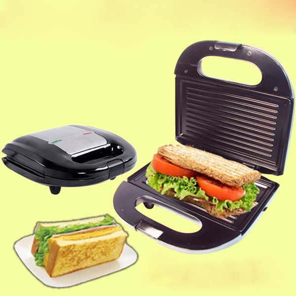DMWD Home Sandwich Machine Small DIY Crepe Pancake Breakfast Waffle Maker Electric Grill Stainless Steel 220V