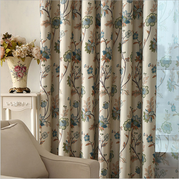 2019 Bedroom Curtains Blackout Floral Print Window Decoration Rustic  Pastoral Living Room Curtains Drapes Single Panel A316 From Sophine08,  $36.56 | ...