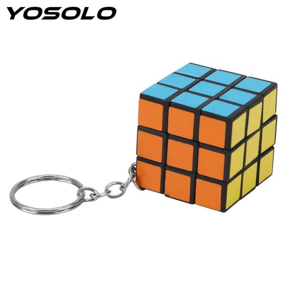 YOSOLO 's Cubo Puzzle Llavero Mini Coche Llavero de Regalo Para El Amigo Mágico Juguete Llavero Llavero Car-styling Teléfono Colgante anillo