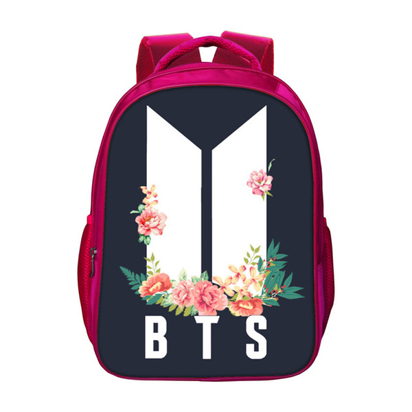New BTS Red Backpacks For Girls School Students School Gifts Big Capacity Bags Red Bookbags For Children BTS