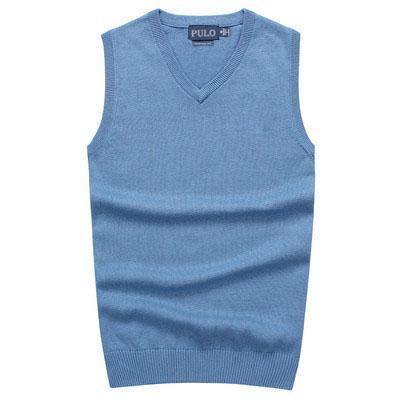 Moda-2018 Nuevo suéter con cuello en V para hombre Suéteres 100% de algodón POLO Suéter con chaleco de golf para hombre Ropa Suéteres abrigados para hombres