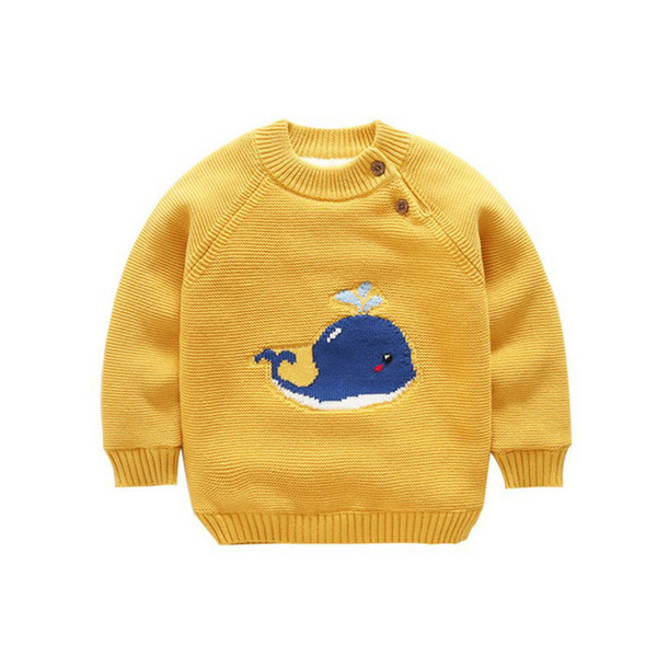 2018 Baby Knit Sweater Clothes Infant Newborn Girl Knitted Toddler Cartoon Cardigan Pullovers Warm Fleece Lined Outerwear