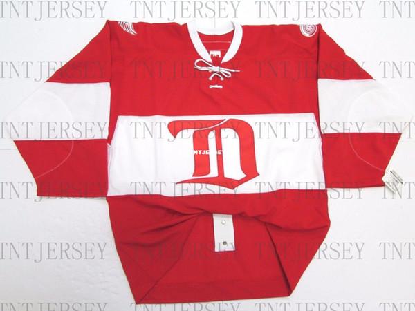 Дешевые пользовательские DETROIT RED WINGS 2014 зима классический выпускников CCM 6100 Джерси стежок добавить любое число любое имя мужской хоккей Джерси XS-5XL