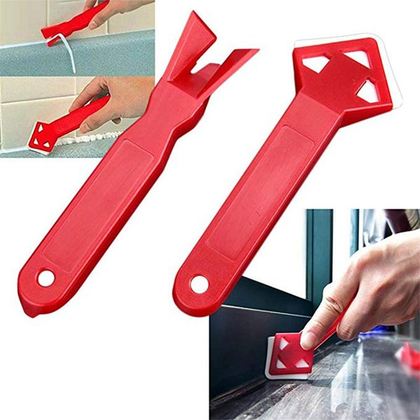 best selling New 2pcs Squeegee Scraps Floor Scraper Angle Cleaner Glass Tile Spatula Glue Remove Shovel Scraper Floor Tool Dropshipping