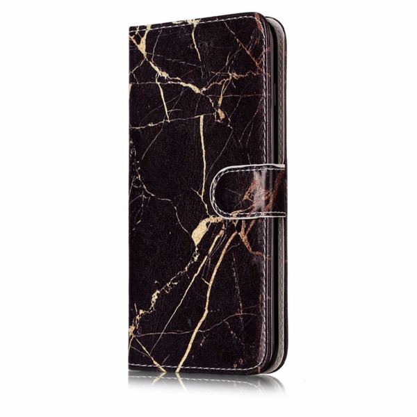Flip Leather Case sFor Coque iphone 5S Case For Fundas iphone 6S 5C 7 8 Plus X SE Wallet Cover Marble Stone Phone Case