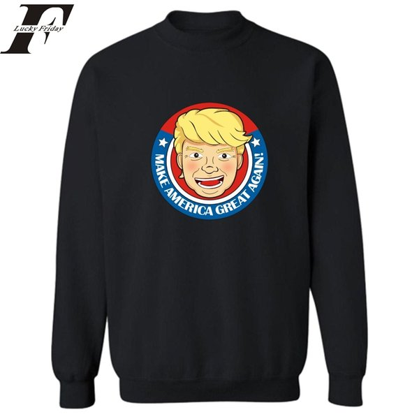 Harajuku Hip Hop Campanha Engraçada Votado Donald Trump Moletom Com Capuz Mens hoodies streetwear hoodie homens Roupas