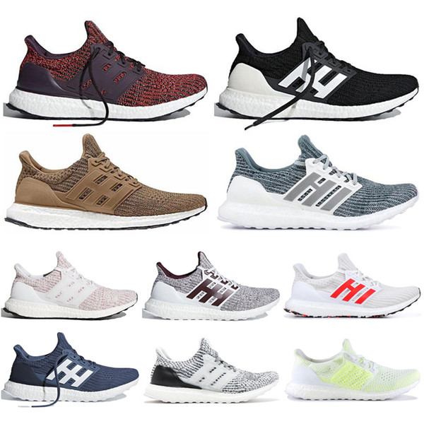 2019 Fashion Primeknit Running Shoes Ultra 4.0 Show Your Stripes Black White Noble Red Women and Men Sports Sneaker Mens Trainer 36-45