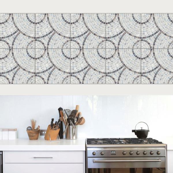 Acquista Fai Da Te Art / Set Imitazione Marmo PVC Impermeabile Autoadesivo  Carta Da Parati Cucina Piastrelle Adesivo Adesivo Decalcomanie Soggiorno ...