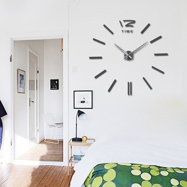2019 37 polegadas venda quente relógio de parede grande decorativo relógios de parede decoração de casa diy relógios sala de estar reloj mural adesivo