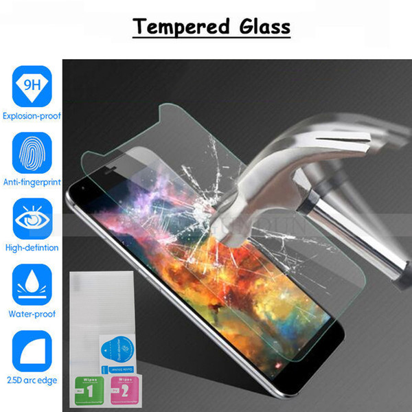 HomTom Zoji Z33 Glass Tempered Glass for Homtom S7 S8 S12 S16 S99 HT3 HT7 HT16 HT37 C2 Screen Protector Film Cover