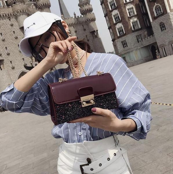 2019 yeni moda patlama omuz çantası Eğilim tek omuz dikiş yüksek kalite taşınabilir Messenger çanta d2