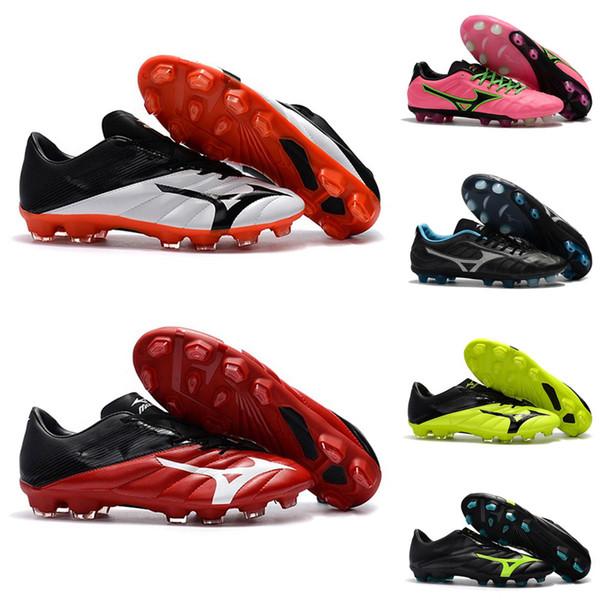 Mais novo Mizuno Rebula V1 botas de futebol Para Homens Laranja Vermelho Chuteiras Sapatos de Futebol BASARA AS WID Sapatilhas de Esportes Ao Ar Livre Sapatos Tamanho 40-45
