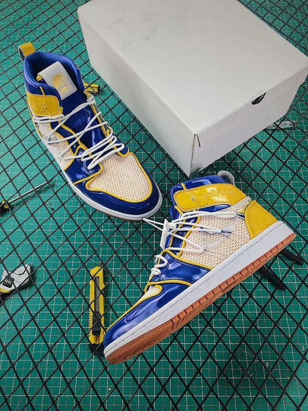2019 1 1s Warrior Dynasty Édition limitée Chaussures de basket-ball Sport Le concepteur de chaussures, chaussures de sport, Chaussures de sport dorées