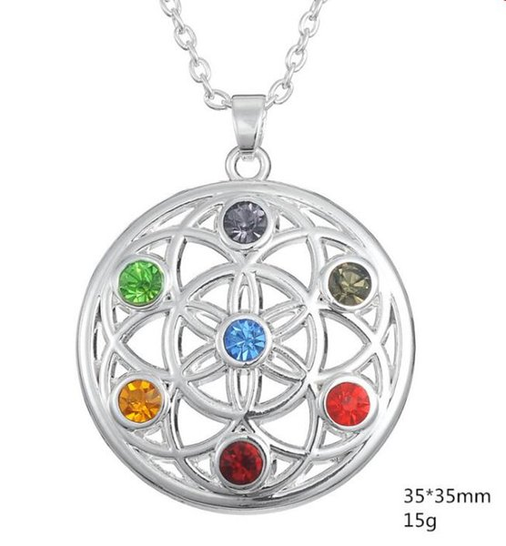 Special Religious Necklace For Unisex Buddhism Style Jewelry Crystal Chakra OM Yoga Necklace Potential Healing Energy Jewelry