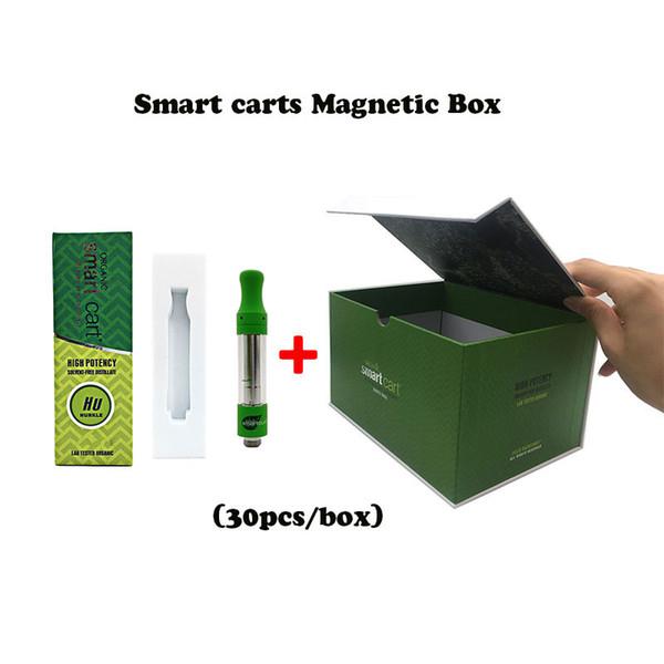 Nuevo logotipo Marcas Smartcart Paquete de caja magnética Carrito inteligente 1.0 ml Bobina de cerámica Carritos Smart Vape 510 Cartucho de roscado con embalaje