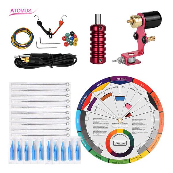 Outils Doublure Shader Supply Machine à tatouer rotative Kit professionnel Ensemble pour débutant en machine Kit complet Kit de stylo tatouage Équipement pour le corps