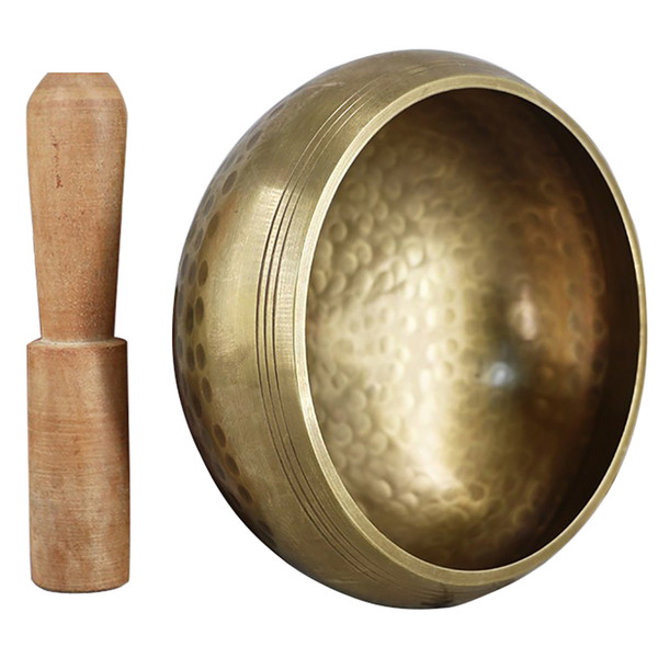 best selling Tibetan Buddhism Singing Bowl Hand Hammered Yoga Copper Chakra Bowl For Music Meditation Relaxation Healing Energy Tools Product