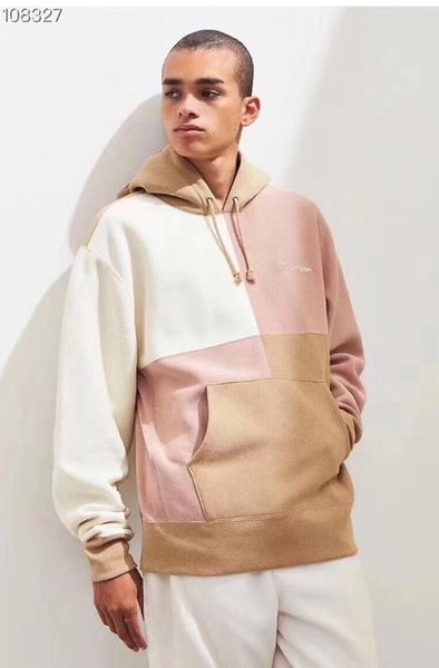 Kapalı ERKEK Tasarımcı lüks hoodie beyaz Marka yüksek kalite Pamuk hoodies Açık spor çift splice erkek giyim Eğlence Vahşi eğilim tpos 159