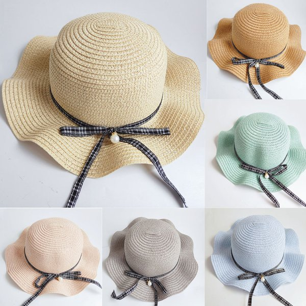 Children's hat handmade holiday hat casual sun straw Fashion Cap Leisure Sun Straw Cap desige summer big wind brim 5.14
