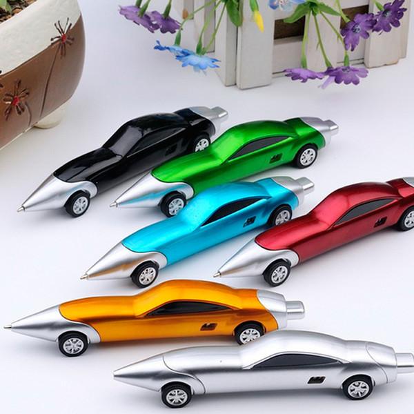 Забавный Гоночный Автомобиль Дизайн Шариковые Ручки Творческий Автомобиль Шариковая Ручка Качества для Детей Детские Игрушки Канцелярские Принадлежности Подарки