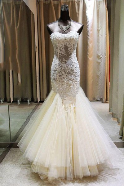 Gorgeous 2019 Mermaid Wedding Dresses Sweetheart Neck Lace Appliques Beaded Layered Skirt Lace Up Bridal Gowns For Garden Rustic Style
