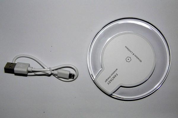 Ультра-тонкая беспроводная зарядка Pad с противоскользящим Rubber, беспроводной датчик зарядки для Samsung S7 / S6 / S6 Edge, Nexus 4/5/6/7. (Белый Зарядка P
