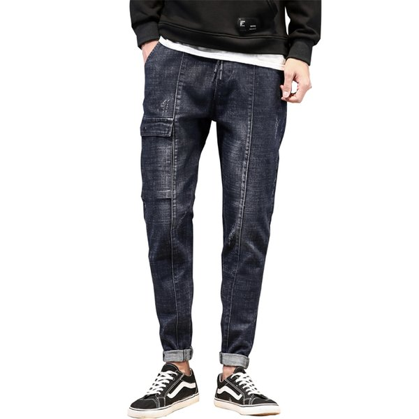 Pantaloni jeans stile denim harem di stile giapponese New Fashion Alta qualità Piccola gamba Uomo Skateboard Hip Hop High Street Casual Cowboy Tr