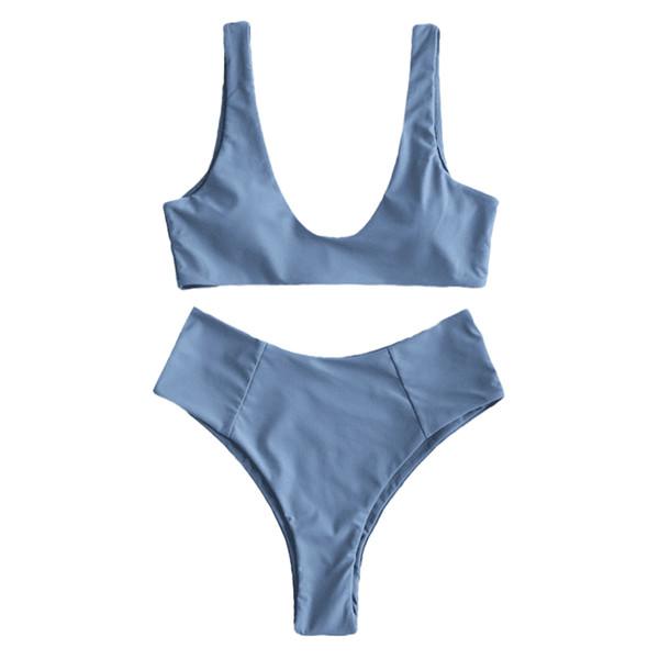 Frauen Outdoor Charming Feste Urlaub Bh Und Slips Mode Beachwear Sexy Erwachsene Polyester Sommer Bikini Set Split Badeanzug