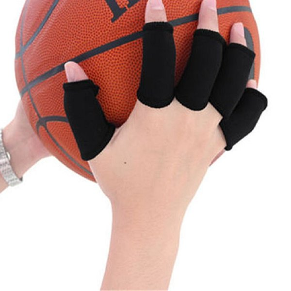 Sport Finger Splint Protector Pain Relief Guard Bands Bandage Support Wrap Basketball Volleyball Fingerstall Sleeve Caps 10pcs