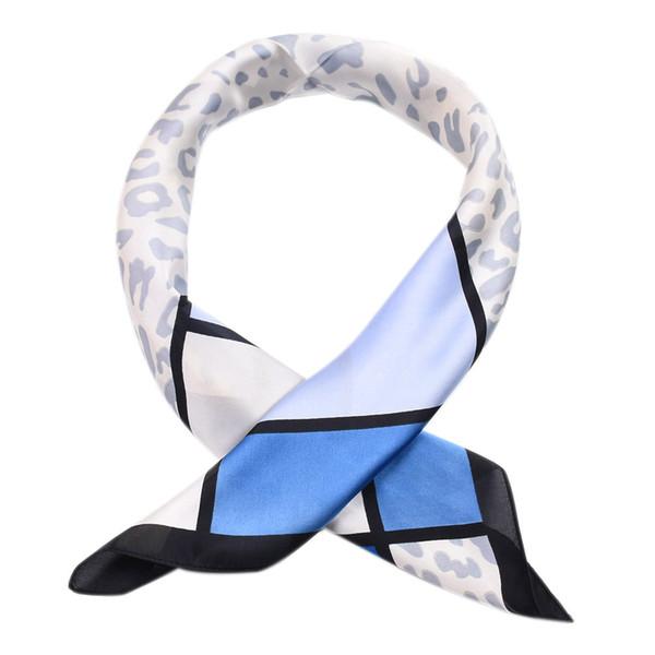 Fashion Elegant Women Square Silk Vintage Head Neck Feel Satin Scarf Skinny Retro Hair Tie Band Small Fashion Square Scarf