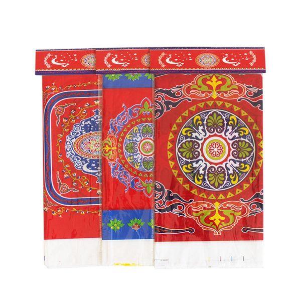 top popular Muslim Antependium PE Plastic Table Cloth Eid Al Fitr Mezi Festival Ramadan Arrangement Decorate Classical Factory Direct Rectangle 2ybB1 2020