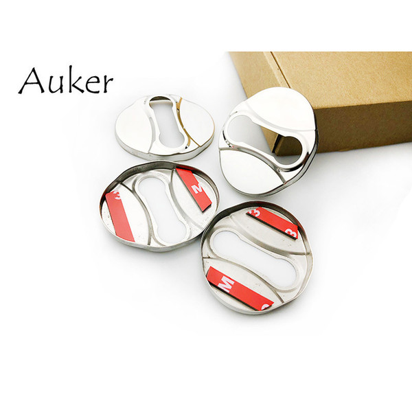 For Hyundai i40 ix20 ix35 Accent Verna Azerna Door Lock Cover Caps Protective Stainless Steel Car-styling