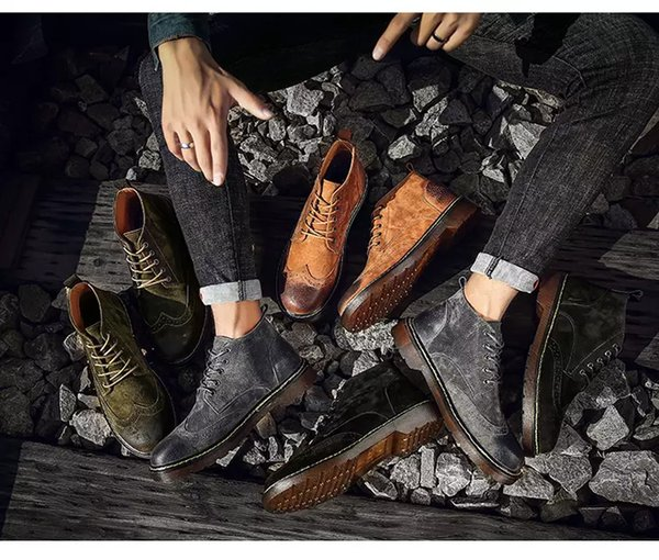 59d5c383cf 2019 Designer Novos Homens Sapatos Da Moda Inverno Quente Sapatilhas Dos Homens  Bota Outono Calçado Para