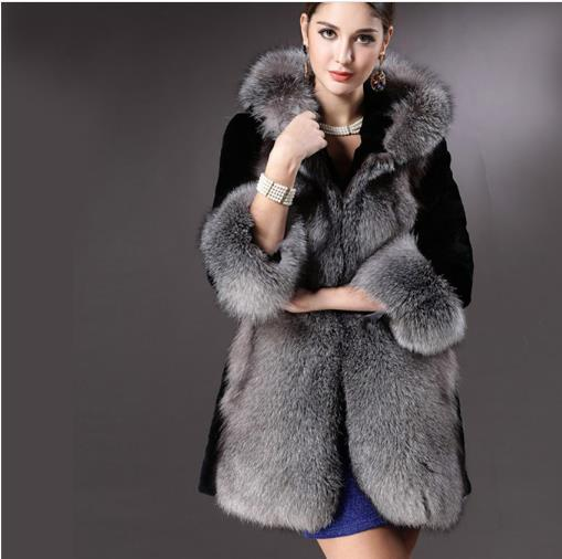 Mullido 2019 de Invierno de Las Mujeres Abrigo de Piel Sintética Abrigo de Piel Artificial Furry Chaqueta Femme Plus Tamaño Fluffy Falso Outwear Z391