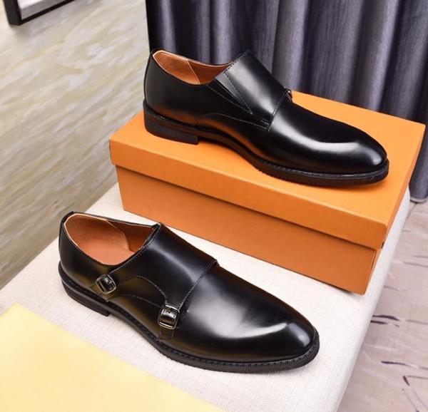 Новый модный бренд, роскошные дизайнерские мужские туфли, мужские оксфорды из натуральной кожи черного цвета с накидкой на свадебное платье, размер обуви 38-44