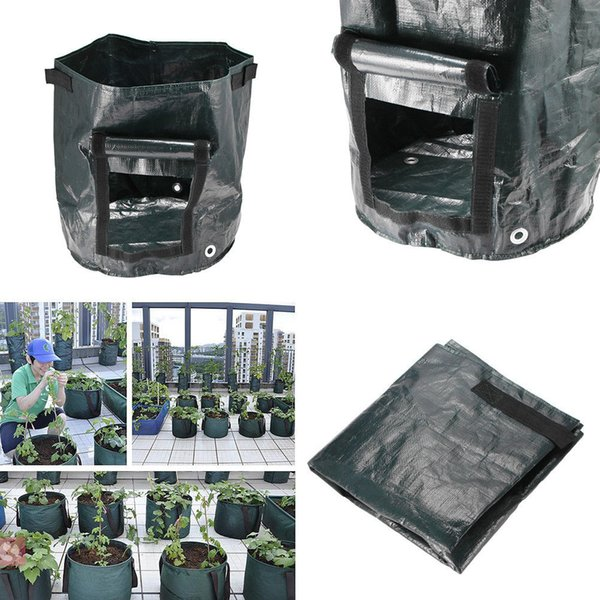 35*34cm Movable Grow Planter Bag Potato Cultivation Planting Garden Strawberry Pots Planters Outdoor Planting Grow Bag AAA1527