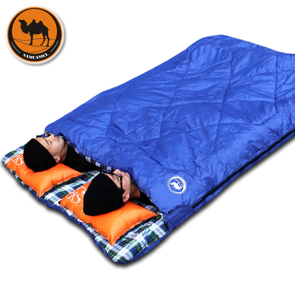 Взрослый открытый кемпинг спальный мешок конверт шаблон пара любитель путешествий теплую погоду использовать можно разделить на два спальных мешка