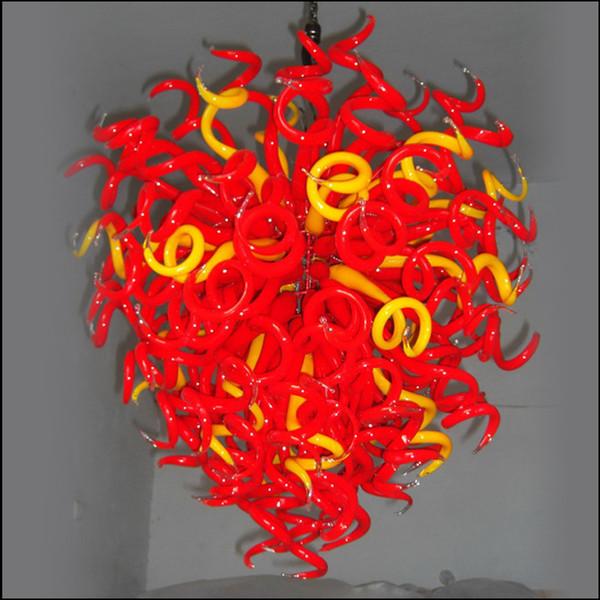 Lámpara de cristal de la boda de techo Centros Colorido Luz restaurante decorativo envío AC Led sala de exhibición de colorido lobby