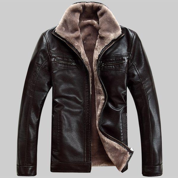 Novos homens jaqueta de couro dos homens casacos 6xl marca de alta qualidade pele de ovelha natural outerwear homens de negócios do inverno da pele do falso jaquetas masculinas