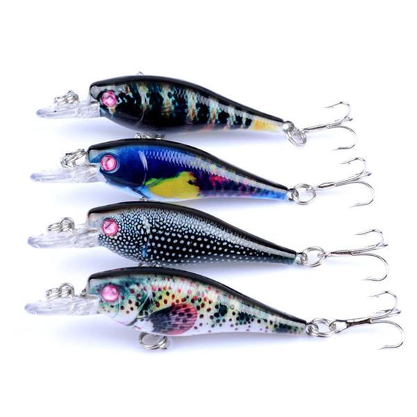 1 PCS 6.5 cm 4.7g leurre Minnow Topwater pêche attaquer dur appât gabarit Wobbler en plastique leurre pêcheur Feeder coloré peinture leurre de pêche