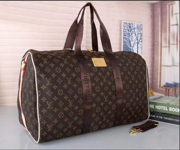 2019 мужчины дорожная сумка женщины дорожные сумки ручной клади роскошный дизайнер дорожная сумка мужчины искусственная кожа сумки большой крест сумка сумки 51 см