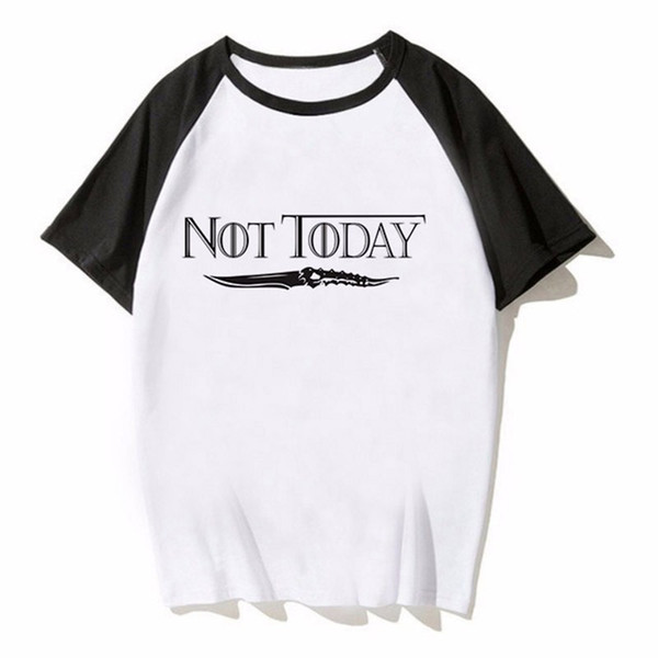T-Shirt Arya Stark Nicht heute T-Shirt Sommer Mann Cool Fashion Design Crewneck T-Shirt
