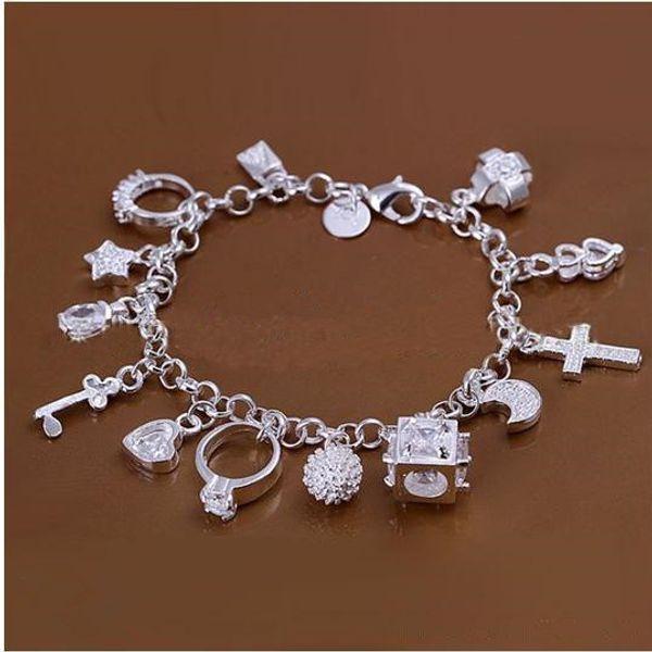 2019 DSSB-066,hotwomen's 925 sterling silver bracelet,925 silver bracelet jewelry,6pcs/lot Free Shipping