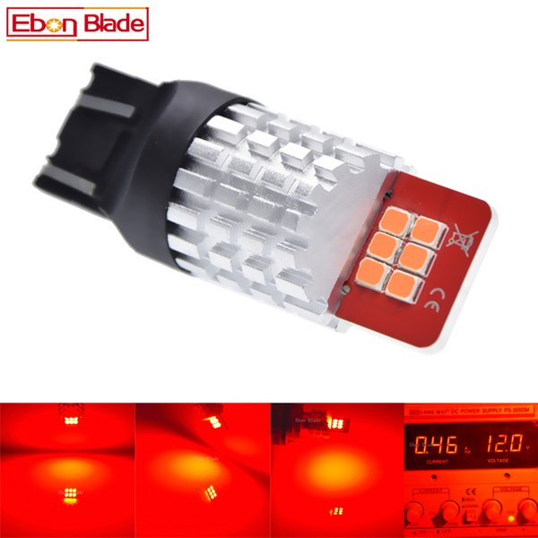 2 x T20 7443 W21/5W 7440 W21W WY21W LED Red Bulb Automobiles 9V-16V DC 2835 SMD Tail Brake Stop Parking Light Car Styling Lamp