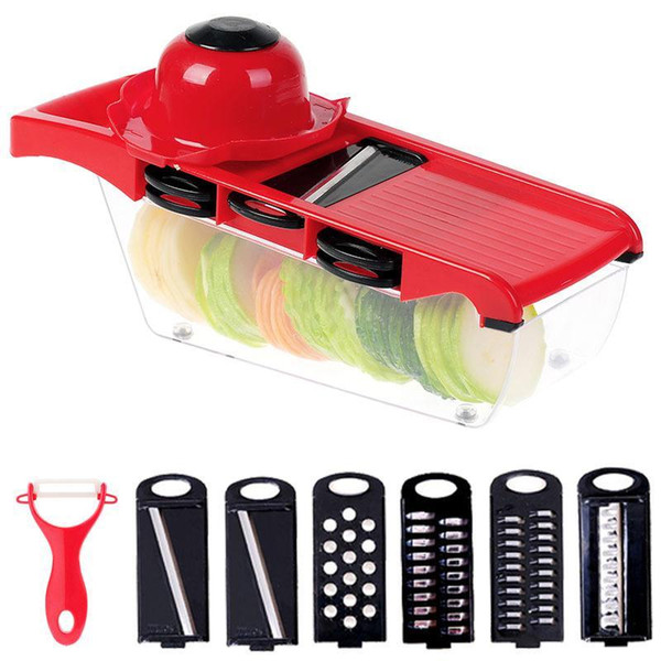 Potato Peeler Carrot Cheese Grater Dicer Kitchen Tool Food Shredder Vegetable Fruit Slicer Cutter with Stainless Steel Blade DH0369