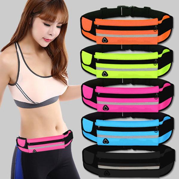 top popular Running Waist Bag Sport Pack Cycling Bag Outdoor Travel Racing Hiking Gym Fitness Waterproof Waist Bag ZZA228 2021