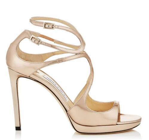 Hot Sale-2019 marca moda diseñador de lujo zapatos de mujer zapatos de boda novia de lujo de tacón alto sandalias b9