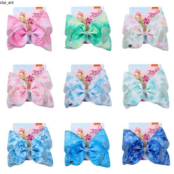 2019 the new jojo birthday gift 8-inch big bow ribbon children new year hair accessory baby girl fashion hairpin kids hoop