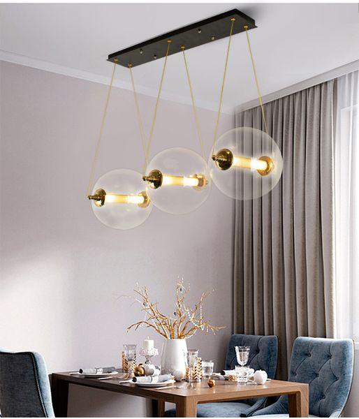 Nordic Designer New style Pendant lights Living room Bedroom Decoration Led G4 Droplight Post Moderm glass ball Combo Doprlight